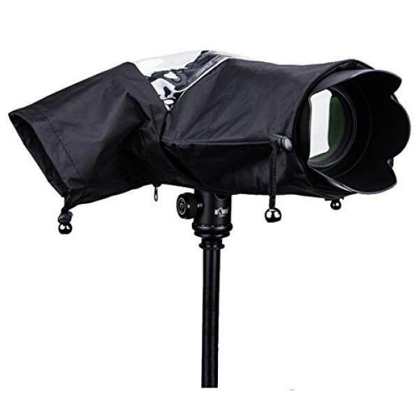 Jeasun Anti-Air Kamera Hujan Sarung Profesional Hujan Sarung Pelindung Kamera Rainproof Terhadap Hujan KOTORAN Pasir Salju Perlindungan, dilipat untuk Canon, Nikon, Sony dan Kamera Digital SLR Lainnya. (Hitam)-Internasional
