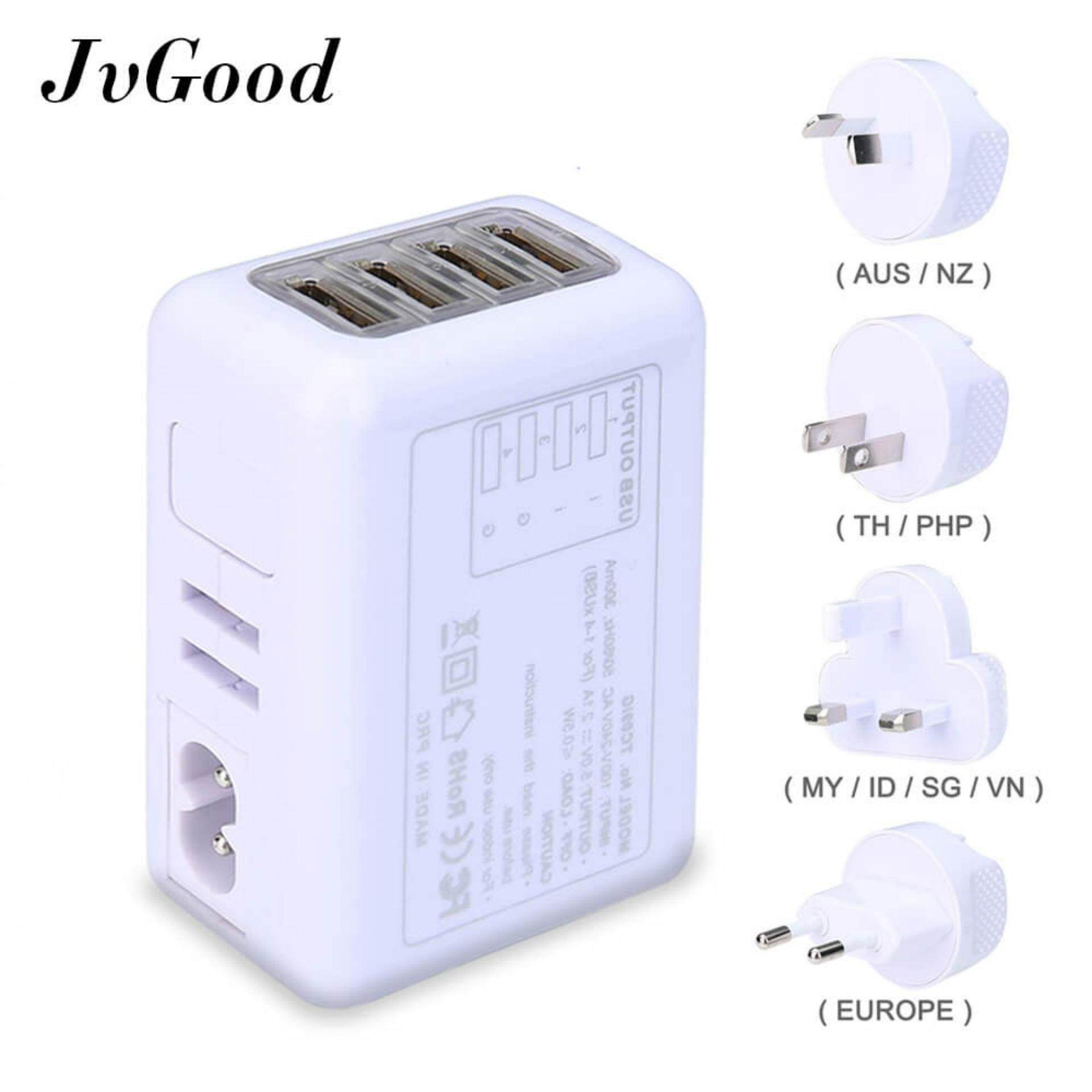 Buy Travel Adapters Converters Lazada Australian Power Cords Electrical Plug And Plugs Jvgood International Universal Adapter With 24a 4 Usb Charger Worldwide Ac Wall