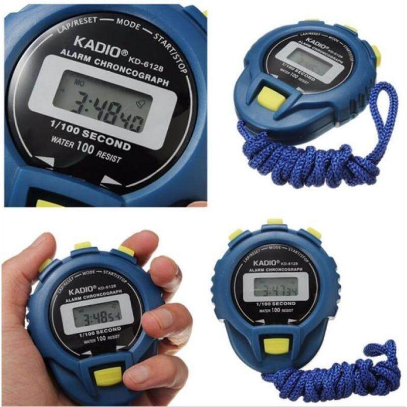 LCD Chronograph Digital Timer Stopwatch Sport Counter Odometer Watch Alarm Malaysia