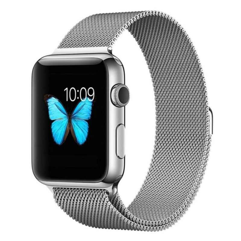 leegoal Apple Watch Band Magnetic Clasp Mesh Loop MilaneseStainless Steel Replacement Strap For Apple Watch Sport Edition38mm Silver Malaysia