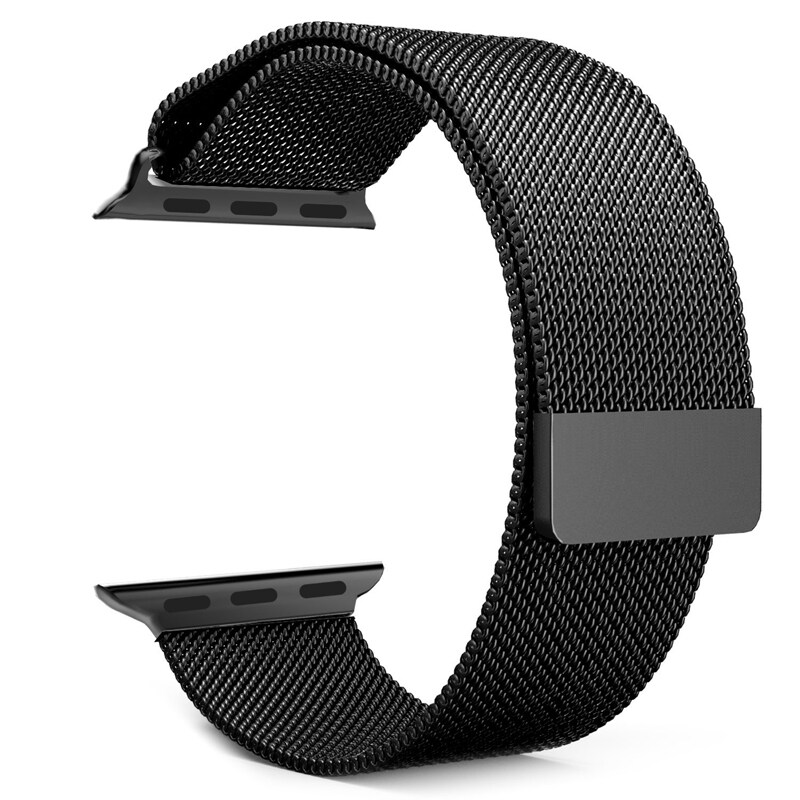 Milanese Magnetic Loop Stainless Steel Strap Watch Bands For Watch 42mm (Black) Malaysia