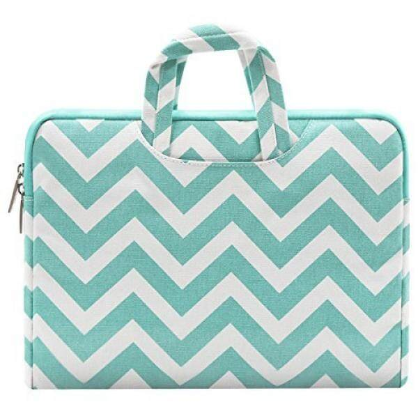 Mosiso Chevron Style Canvas Fabric Laptop Briefcase Handbag Carrying Case Cover for 11-11.6 Inch