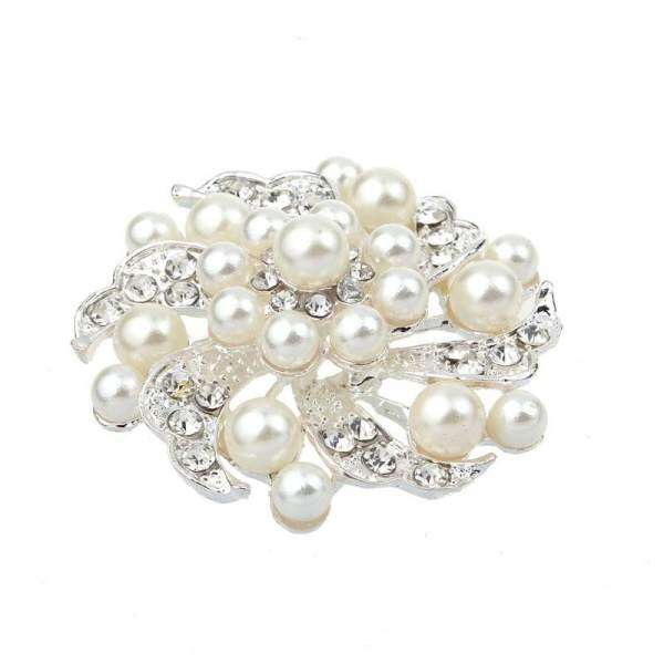 Hình thu nhỏ sản phẩm New Fashion Noble All-match Rhinestone Jewelry Pearl Brooch Prom Pin