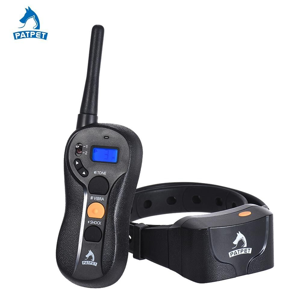 Patpet P-Collarlarge Medium Small Dog Training Collar Beep/vibra/shock No Bark Collar 16 Sensitivity Control 656yd Remote Rechargeable Waterproof Ipx7 Harmless - Intl By Tdigitals.