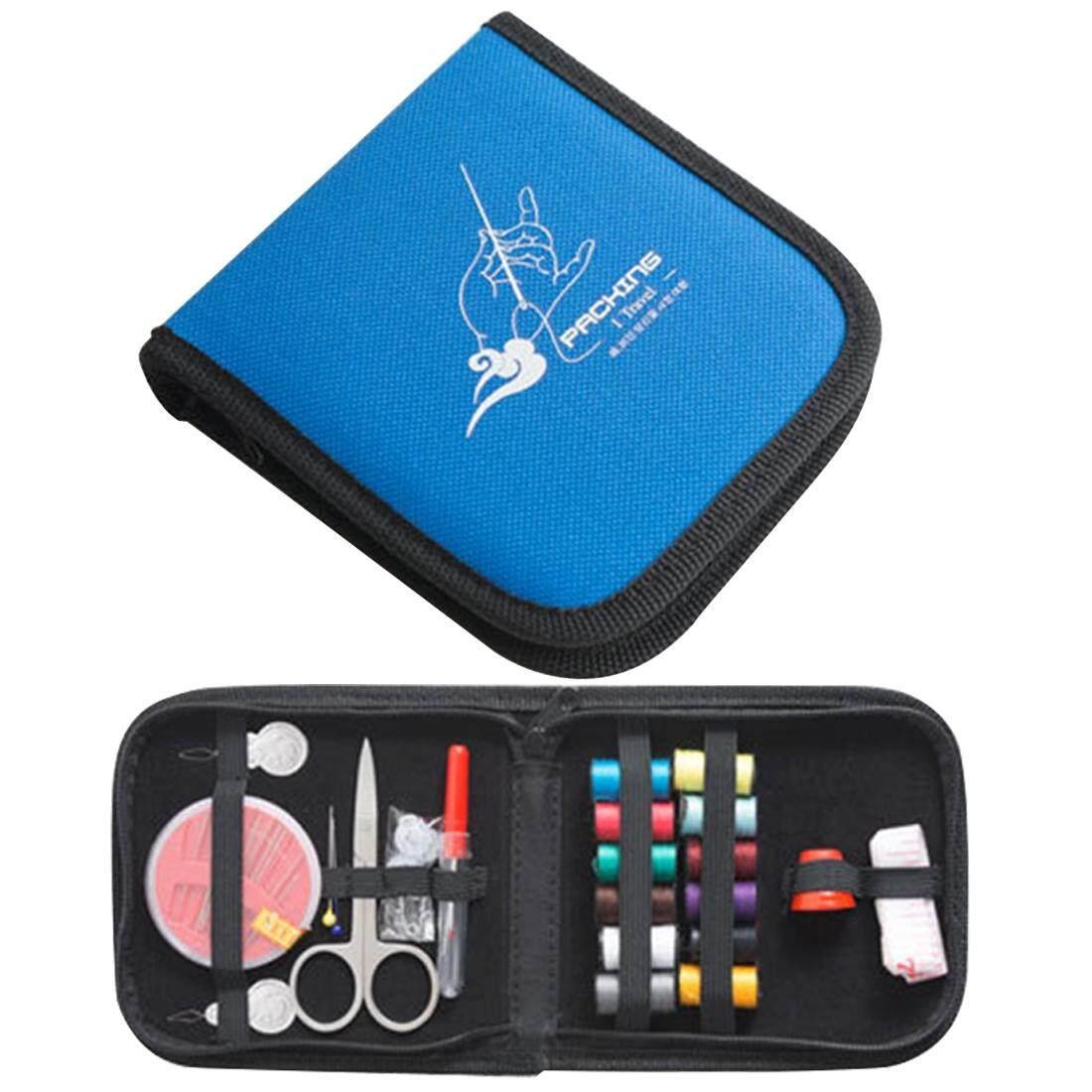 Portabel Mini Rumah Perjalanan Jahit Set Kotak, Ukuran: 12*12.5 Cm (Biru