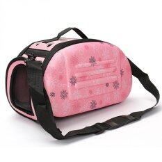 Portable Small Pet Dog Cat Sided Carrier Travel Tote Shoulder Bag Cage House (pink) By Panda Online.