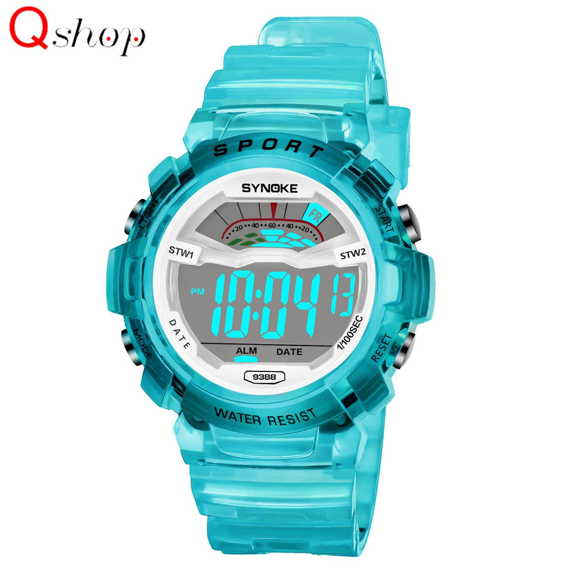 Q-shop Kids Multifunction Digital Sport Watch,High Quality 30m Waterproof  Watch Electronic LED