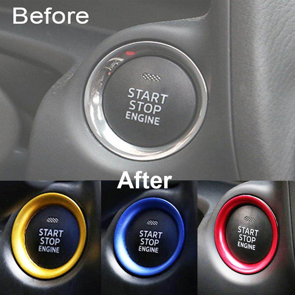Red Console Engine Start Key Push Button Ring Trim Cover For Mazda 3 Axela 2014-2017 (color:golden) - Intl By Buy In Coins.
