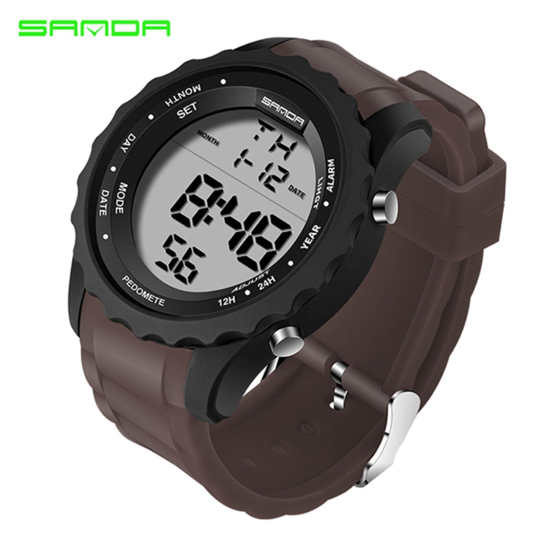 ... SANDA luxury Brand Military Sport Watch Men Casual Chronograph Rubber Watch Strap Waterproof LED Digital Watch
