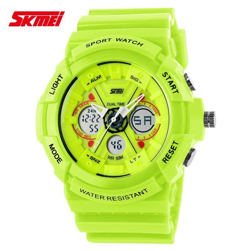 SKMEI 0966 Men Woman Unisex Digital Hybrid Dual Time Waterproof Sports Watch [100% High Quality] Malaysia