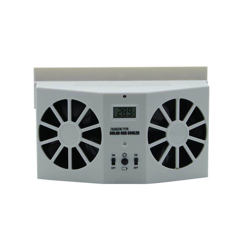 Solar Powered Radiator Cool Fan For Car Vehicle Air Vent New Arrival Accessory - Intl By Huyia.