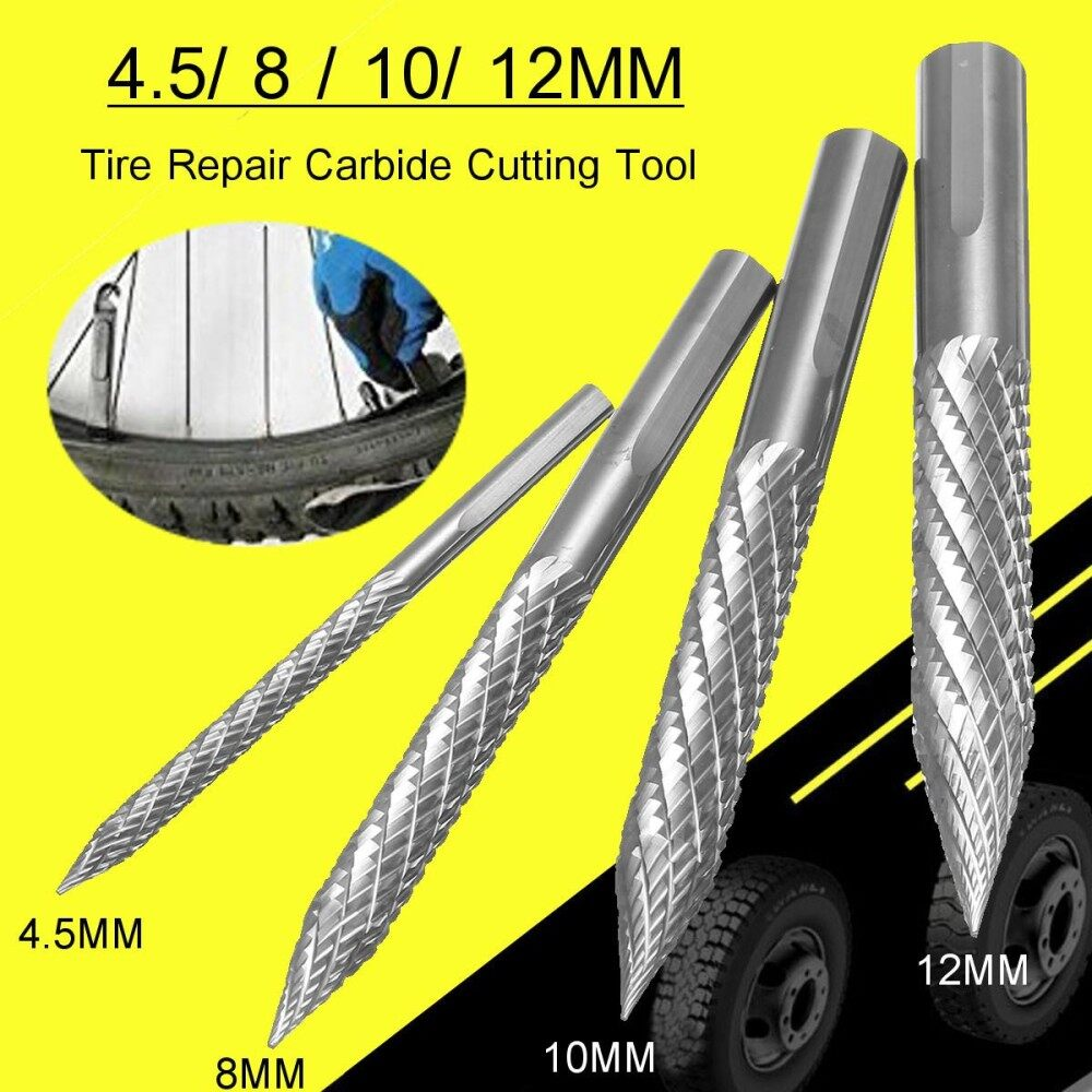 Tire Repair Carbide Cutting Tool Drill Reamer 12mm Bit Carbon Carbide Burr - Intl By Autoleader