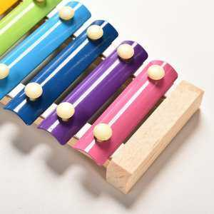 Hình thu nhỏ sản phẩm Wooden 8 Tones Multicolor Xylophone Wood Musical Instrument Toys Colorful Fashion Toys Knock On Piano For Baby Kids