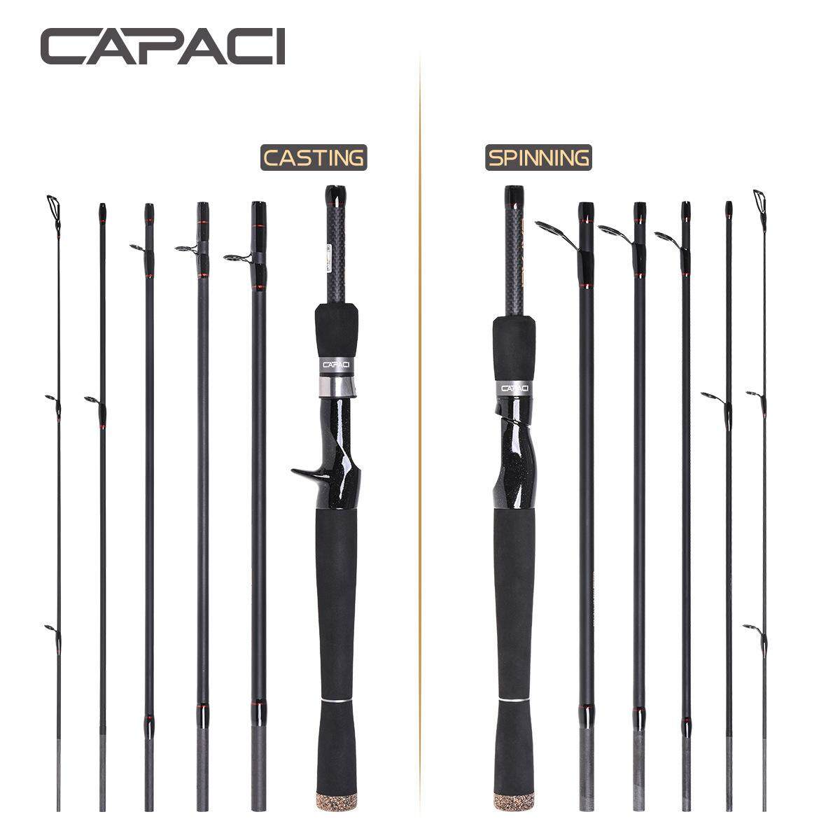 Capaci 2.1/2.4 M Straight Handled Bass Fishing Rod With Super Short Circuit Section By Zishine Shop.