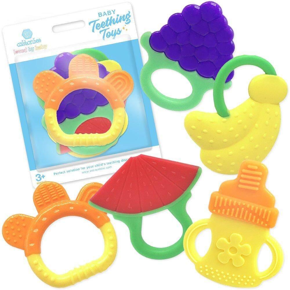 ซิลิโคนสำหรับทารกฟันพึ่งงอกของเล่น 5 Pack-BPA ฟรีธรรมชาติที่แช่แข็งอินทรีย์ปลอดภัยอาการคันเหงือกจากฟันกำลังขึ้นของเล่นสำหรับ 3 ถึง 12 เดือน, ทารก,เด็กวัยหัดเดิน