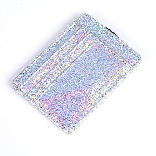 New Credit Card & ID Holders Flash Sequins PU Leather Slim Short Women Wallet Purse License