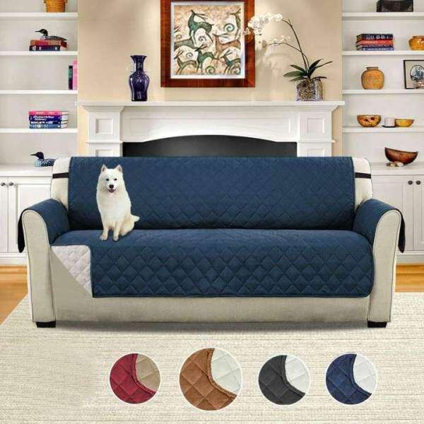 Sentexin 3 Seater Sofa Slipcovers Professional Non Slip Quilted Pet Sofa Protector Cover Seat Width 66 Reversible Wear Resistant And Waterproof