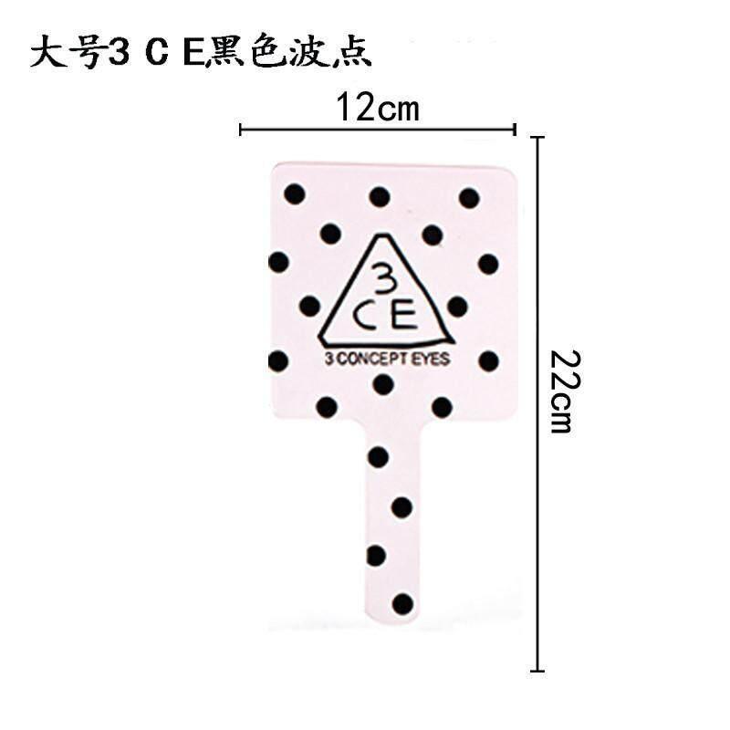 3CE 3 mắt Gương Trang Điểm Nhà Sản Xuất Làm Đẹp Để Bàn cầm Tay Gương Trang Logo Thẩm Thư băng Kinh