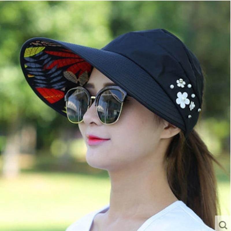 ผู้หญิงลำลองพับกว้าง Brim หมวกกันแดดหน้าร้อน Beach UV Sun LADIES ฟลอปปี้หมวก