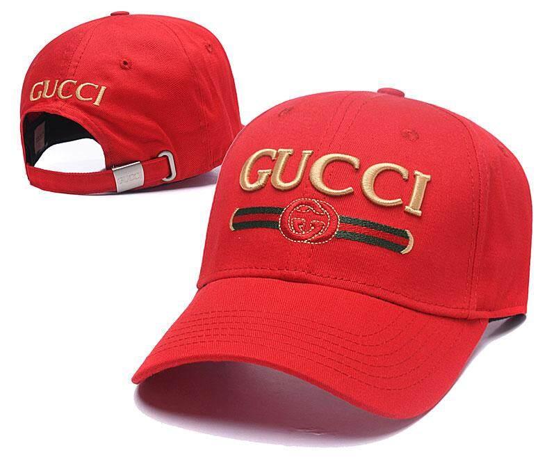 Gucci หมวกเบสบอลเล่นกอล์ฟเย็บปักถักร้อยปรับหมวกคุณพ่อผู้ชายและผู้หญิงลำลอง Street ฮิปฮอปหมวก