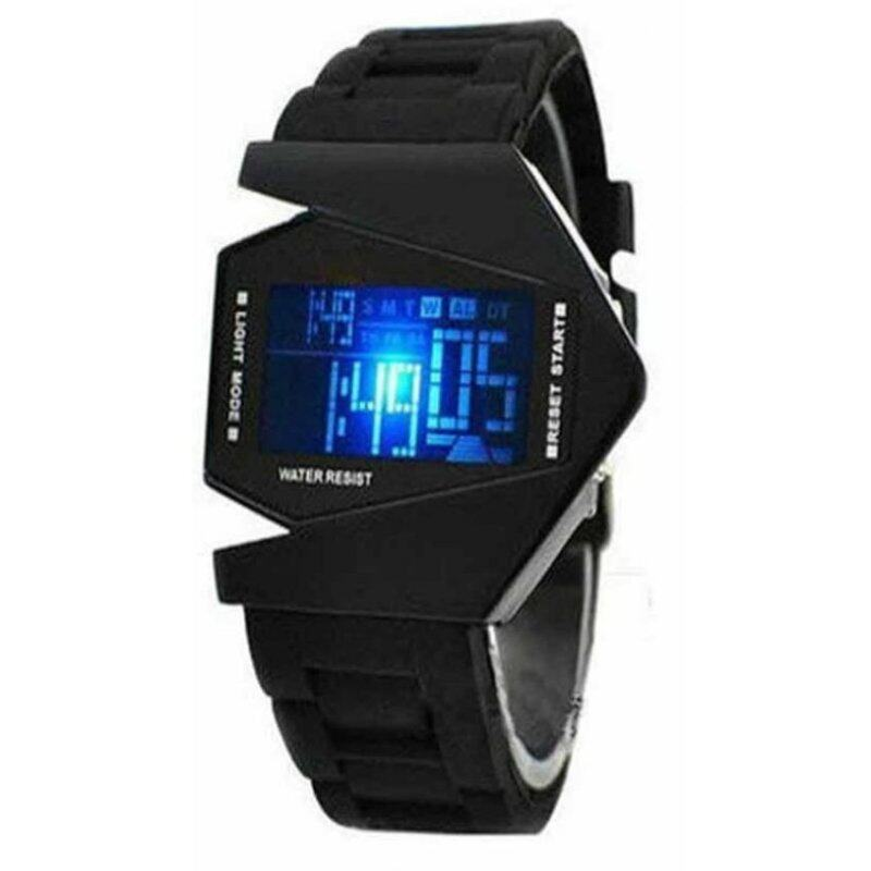 LED Digital Mens Black Silicone Strap Watch Malaysia
