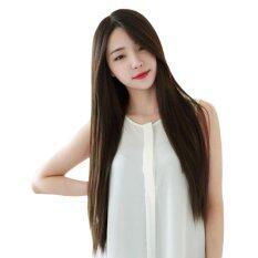 Moonar 1 Pcs Casual Women Long Straight Full Wig Heat Resistant Hair Black Brown Wigs
