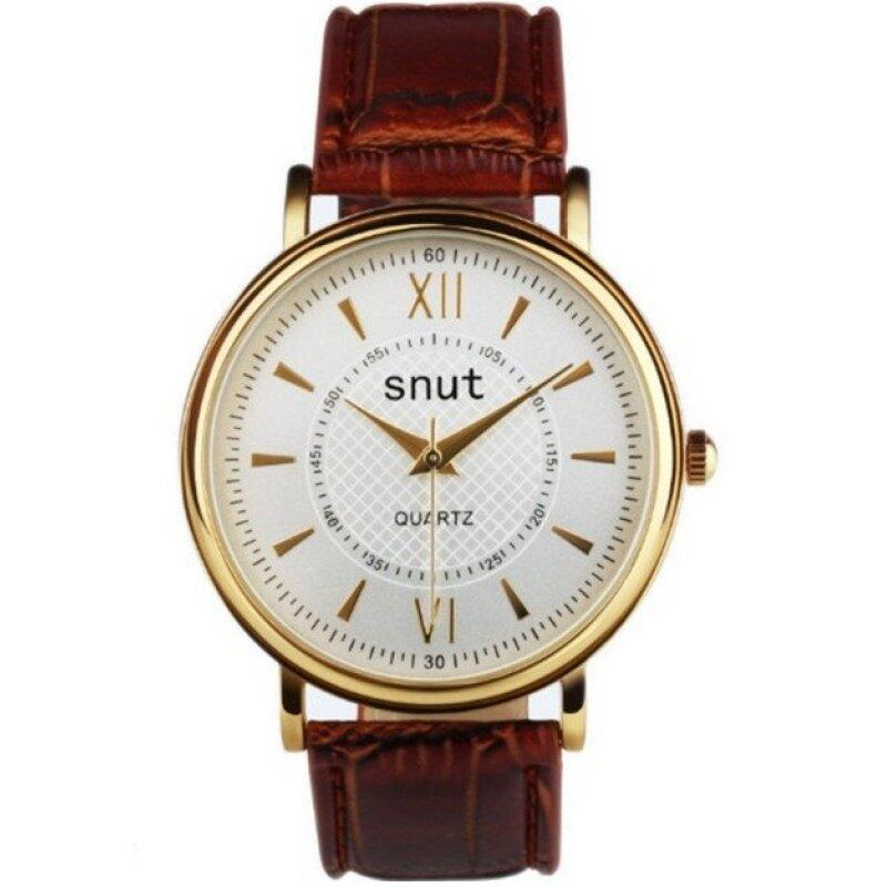 SNUT Fashionable Leather Watch For Men - White Malaysia