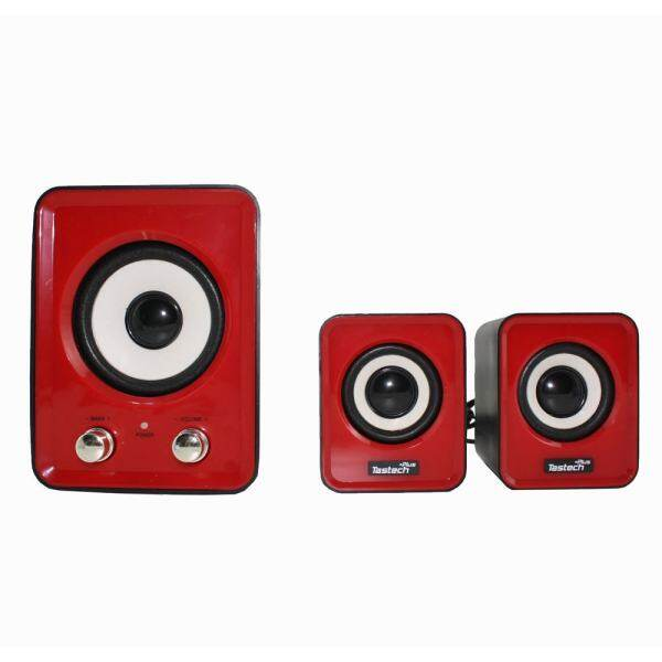 Tastech BF-100 3d sound Technology 2.1 USB port Multimedia Speaker (Red) Malaysia