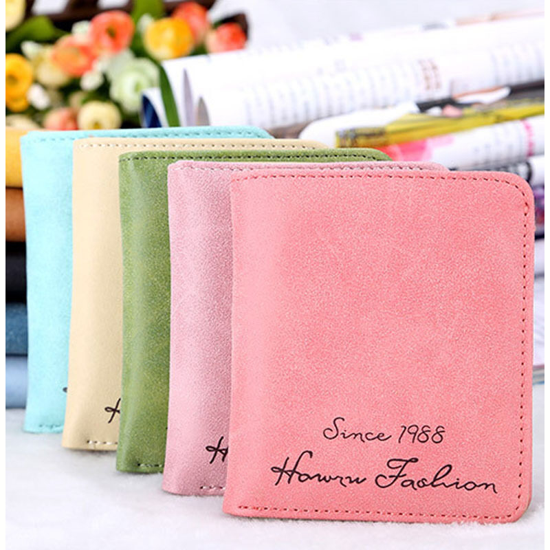 wholesale women purse fashion candy colors pu leather wallet casualmultiple Cards holder wallet for girls handbag