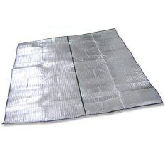 (HOT SALE) Dampproof Mat Picnic Hiking Outdoor Pad Double Side Aluminum Film 200X250 cm (Silver)
