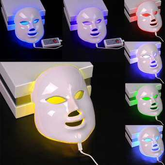 YANYI 7 Colors Light Photon Electric LED Facial Mask Tester Skin Rejuvenation Anti Acne Wrinkle Removal Therapy Moisturizing Brightening Complexion-