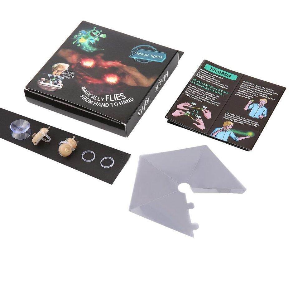 ELEC 3D Ong Mật Magic Đèn Sáng Bugz Ngón Tay Chống Đỡ Đèn Hình Ba Chiều Chiếu Đồ Chơi