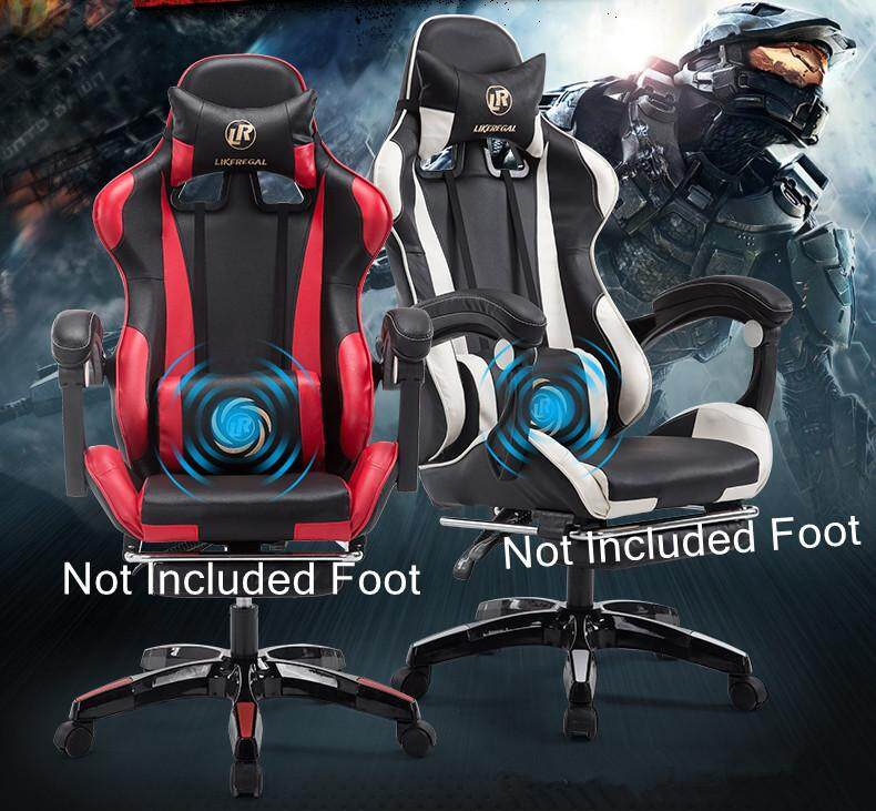 New Design Ergonomic Adjustable PU Racing Gaming Office Study Chair - NOT INCLUDED FOOT ( Red Color)