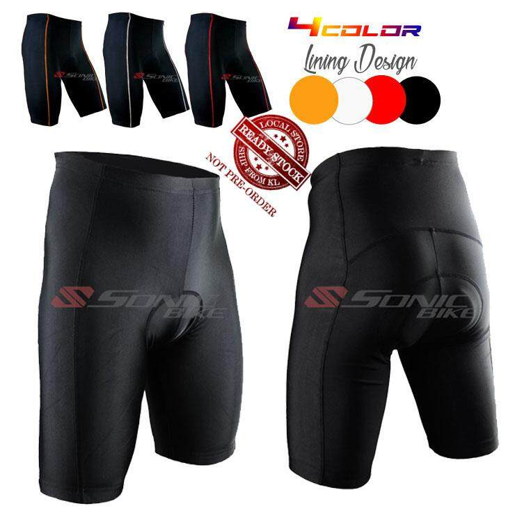 READY STOCK [FREE RETURN] Plain Black Cycling Gel Padded Short Pant - P Series Shorts