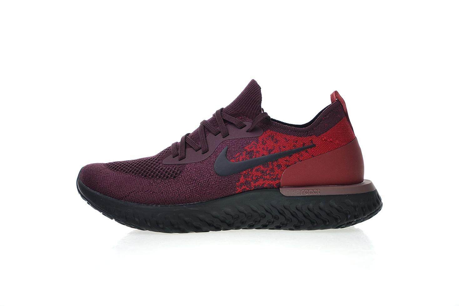 Nike Epic React Flyknit Men s Comfortable Running Sneaker Fashion Casual  Sport Shoes (Wine ... 90cde69e1a