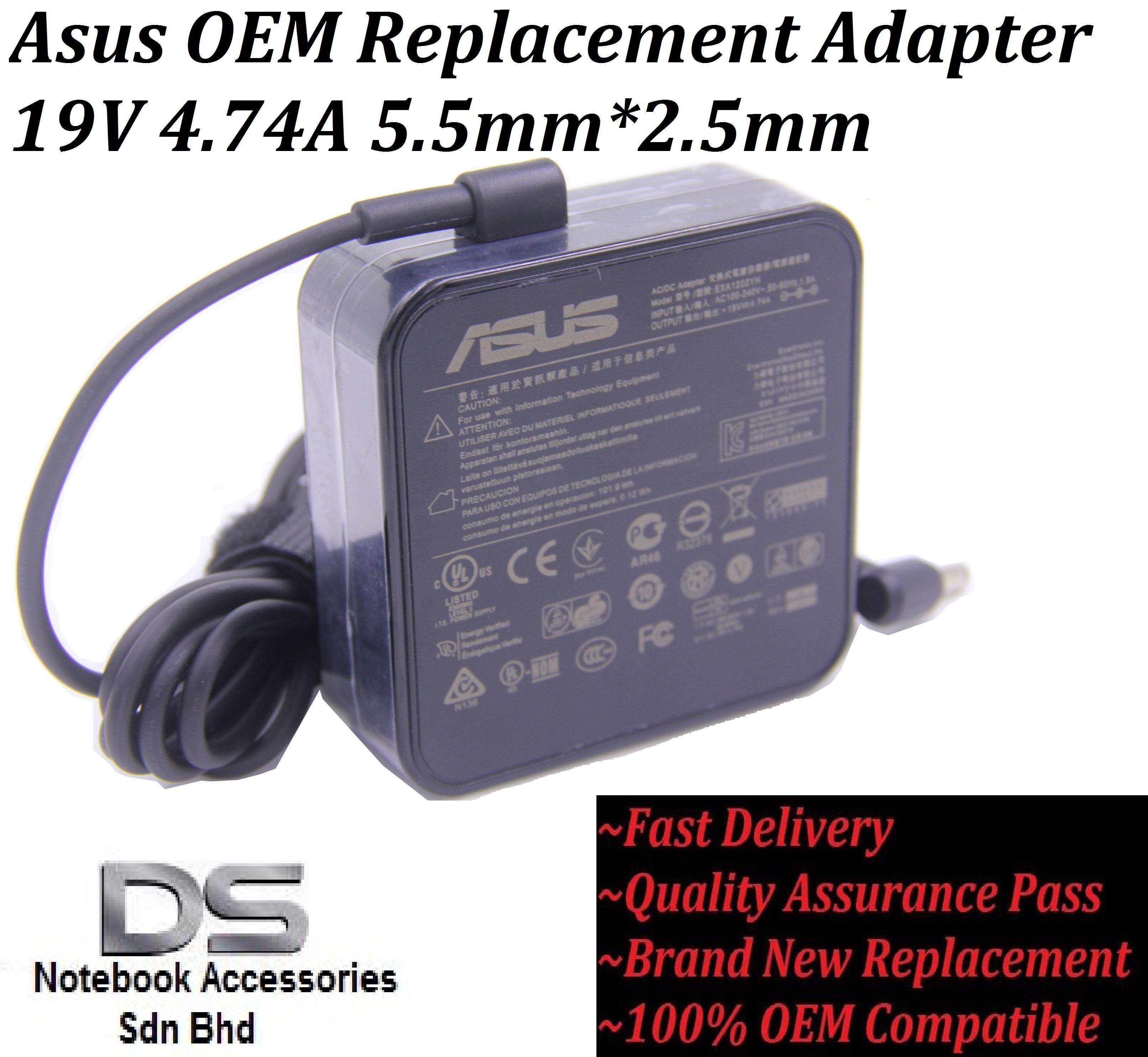 High Quality Asus Replacement Adapter for Asus M6800RF Series 19V 4.74A 90W 5.5mm*2.5mm /Asus 19V 4.74A Adapter