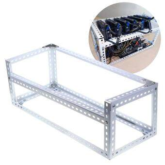 Aluminum Open Air Frame Mining Miner Rig Case For 6 GPU ETH BTC Ethereum ZCash Sliver