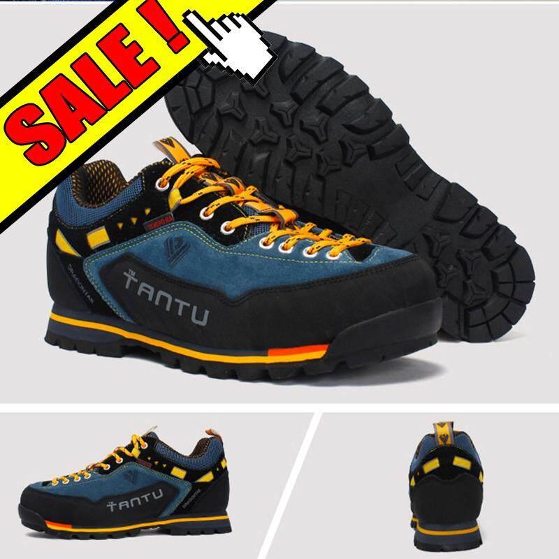Yealon Sepatu Mendaki Tahan Air Sepatu Mendaki Pria Sepatu Sport Luar Ruang  Sneakers Pria Bernapas Sepatu d08c9338f4