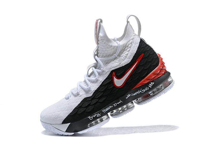 the best attitude 27fe2 bf546 Nike_Authentic Official LeBron James LeBron XV LeBron 15 EP Mid Top MENS  Basketaball Shoe LBJ High Quality ( White Black )