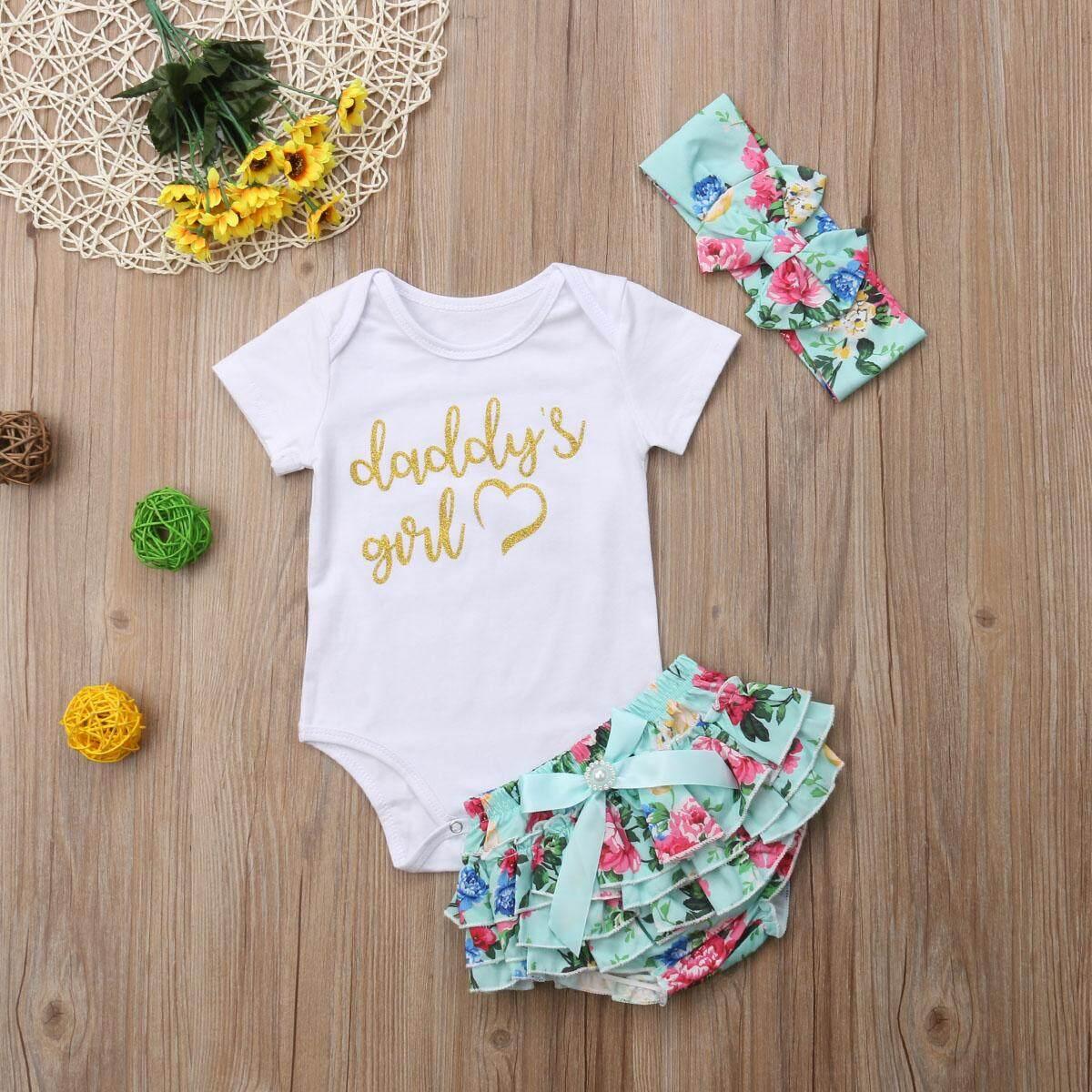 Unique Baby Girls Cotton Floral Romper