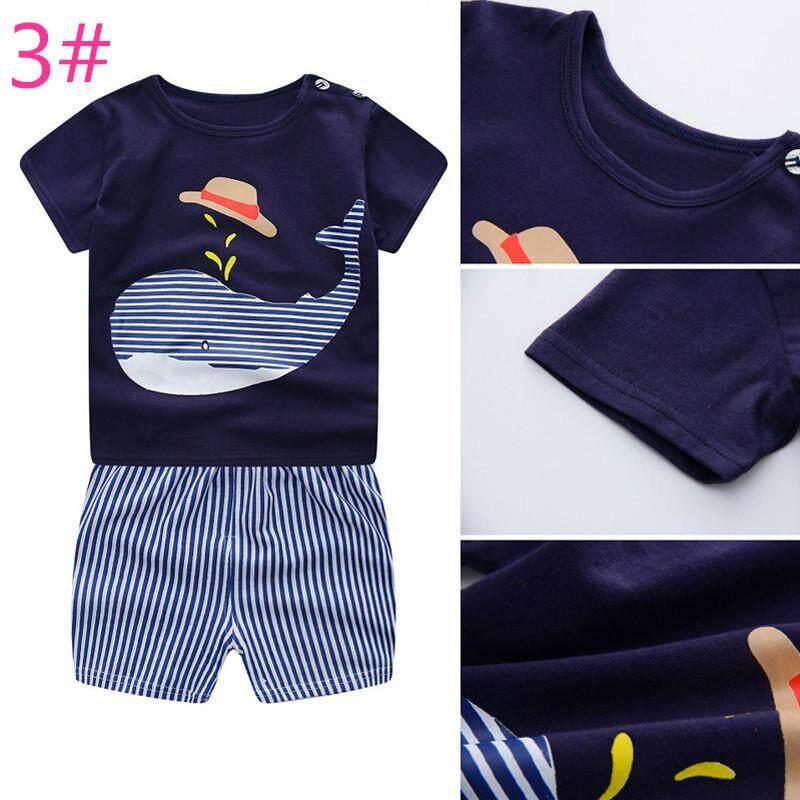 Beautymaker Baby Boy Girl Summer Clothes Clothing Set Shirt+Pants
