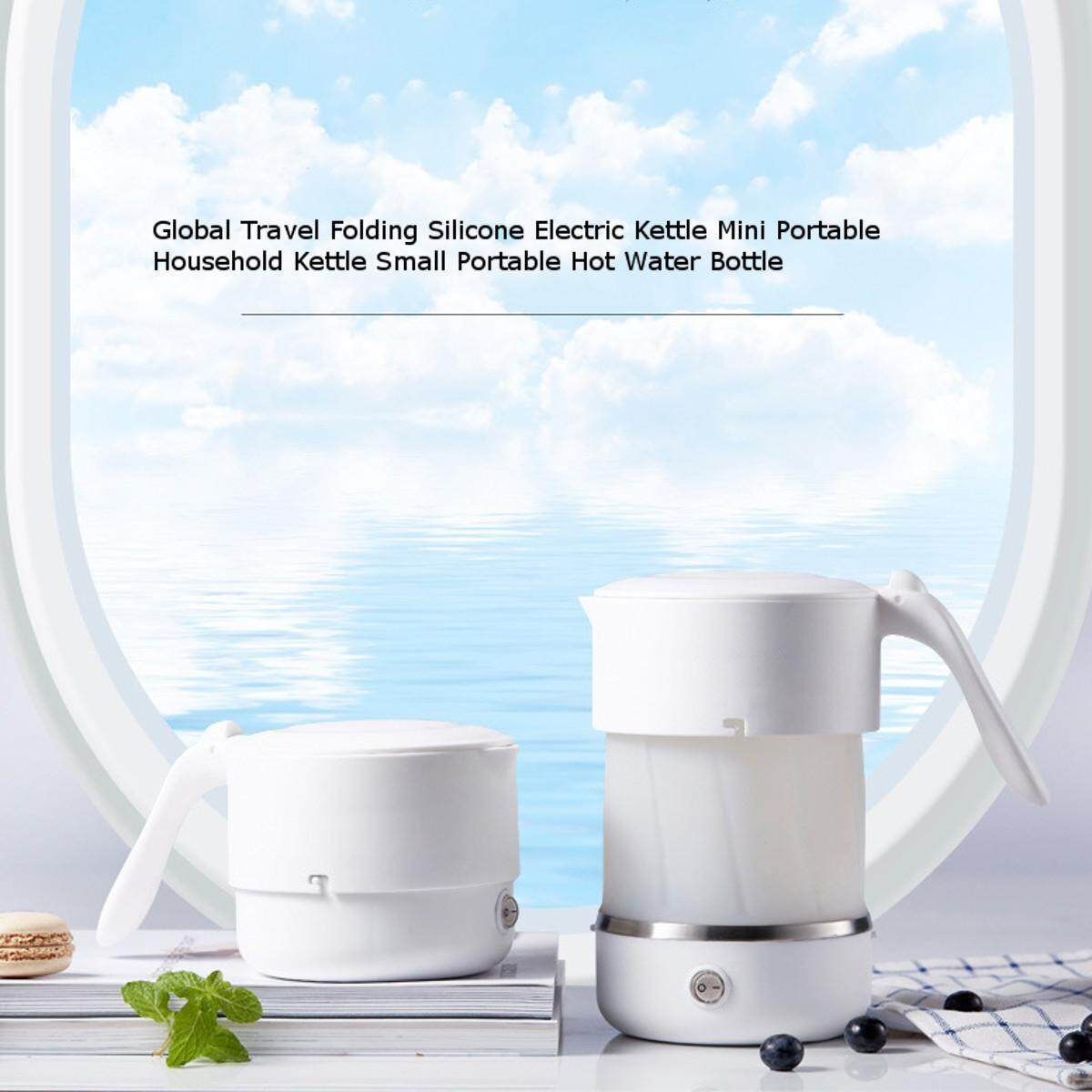 220V Global Travel Folding Silicone Electric Kettle Mini Portable Household Kettle Small Portable Hot Water Bottle