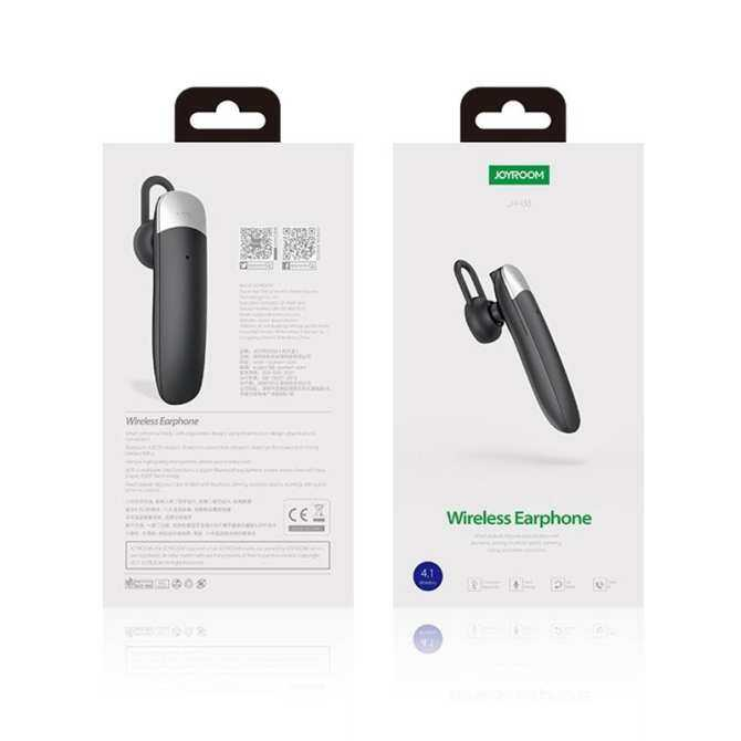 JOYROOM JR-B3 Ultra-light Single Wireless Bluetooth Earphones with Mic, For iPad, iPhone, Galaxy, Huawei, Xiaomi, LG, HTC and Other Smart Phones (Black) - intl