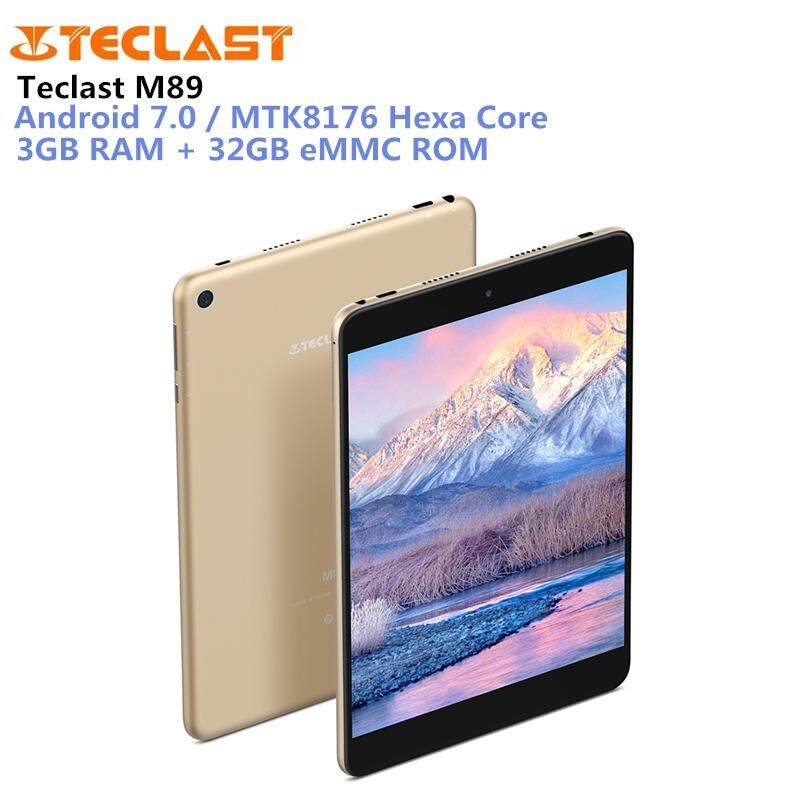 ORIGINAL Teclast M89  3GB RAM 32GB Tablet PC 7.9 inch Android 7.0 MTK8176 Hexa Core 2.1GHz 3GB RAM 32GB eMMC ROM Double Cameras Dual WiFi HDMI Type-C
