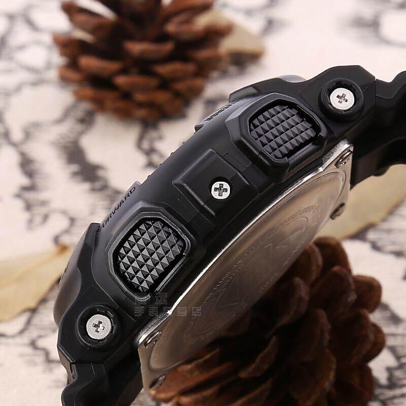 สอนใช้งาน  สุราษฎร์ธานี 【 STOCK】Original _ Casio_G-Shock GA-100 Duo W/เวลา 200M กันน้ำกันกระแทกและกันน้ำโลกนาฬิกากีฬาไฟแอลอีดีอัตโนมัติ Wist นาฬิกากีฬาสำหรับ MenGA-100CF-1A Camou