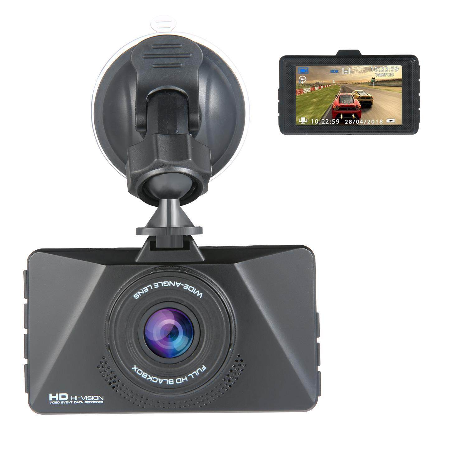 Kobwa 3 Inch 1080P HD Screen Dash Cam 170 Wide Angle Night Vision Car Camera With G-Sensor