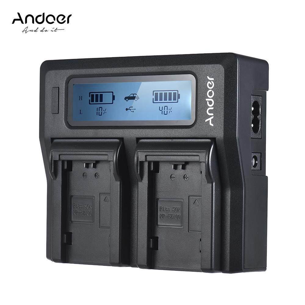 Andoer NP-FZ100 Dual Channel LCD Camera Charger for Sony A7III A9 A7RIII A7SIII - intl