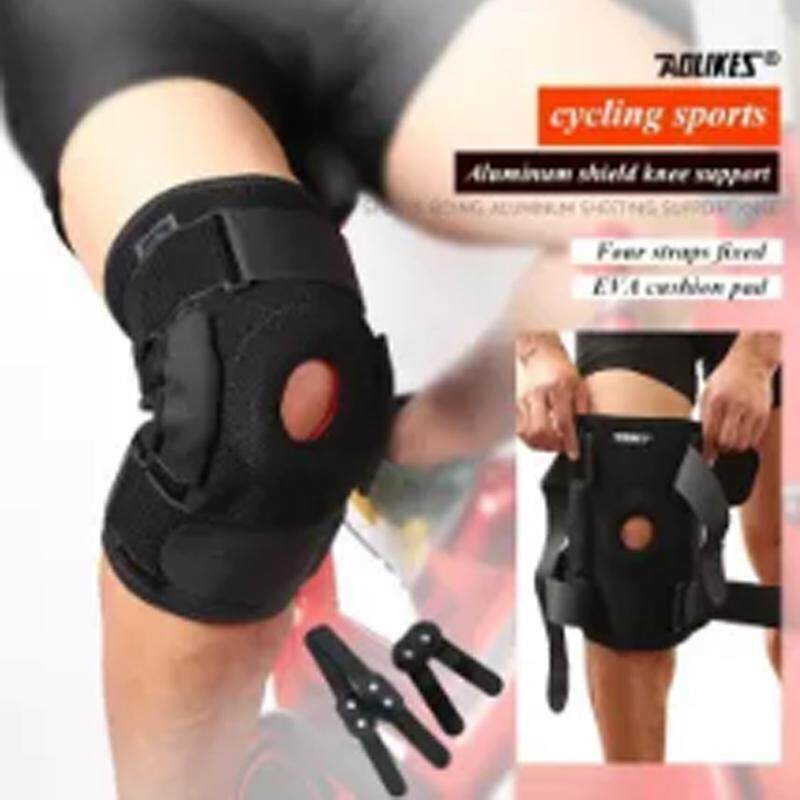 AOLIKES 1Pcs Knee Brace with Polycentric Hinges Professional Knee Pad Guard Breathable Outdoor Climbing Cycling Knee Support