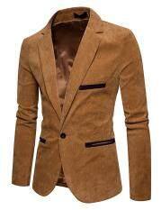 Gardenia Men Corduroy Suit Jacket Casual Coat