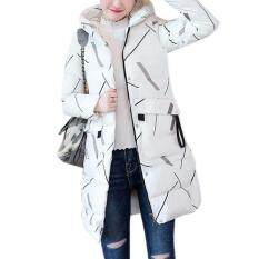 Star Mall Women Down Cotton Padded Jacket Long Warm Hooded Coat Winter Top For Ladies Slim Fit